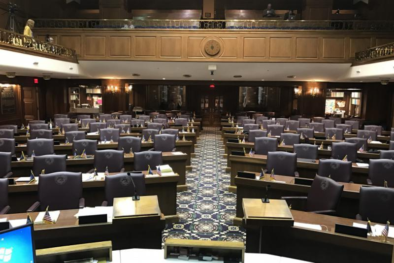 Gov. Eric Holcomb will deliver his State of the State address from the House Chamber. (Brandon Smith/IPB News)