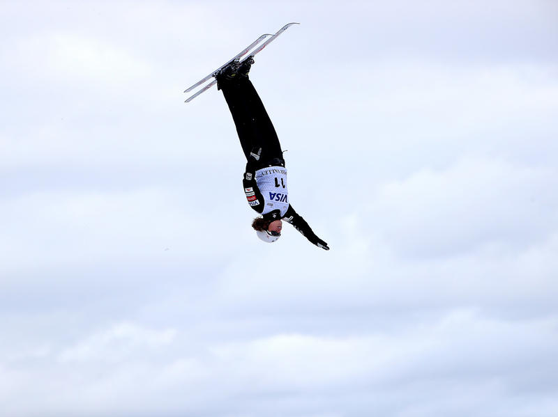 Ashley Caldwell competes in the Ladies' Aerials qualifying during the 2018 FIS Freestyle Ski World Cup on Jan. 12 in Park City, Utah. From the time she started competing,