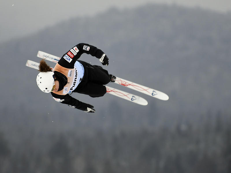 Caldwell competes in the women's World Cup freestyle skiing aerials in Lake Placid, N.Y., on Jan. 19.