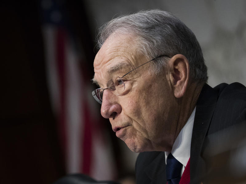 Sen. Chuck Grassley, R-Iowa, during a Senate Judiciary Committee hearing last December. Grassley had stinging words Thursday for Attorney General Jeff Sessions, who opposes a birpartisan bill that would reduce some mandatory minimum drug sentences.