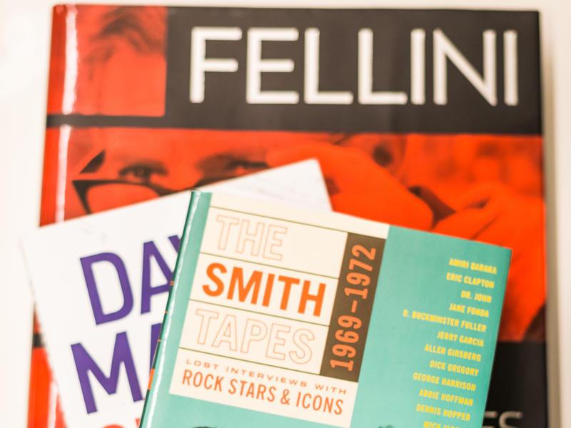 Books on N'Jeri's desk.