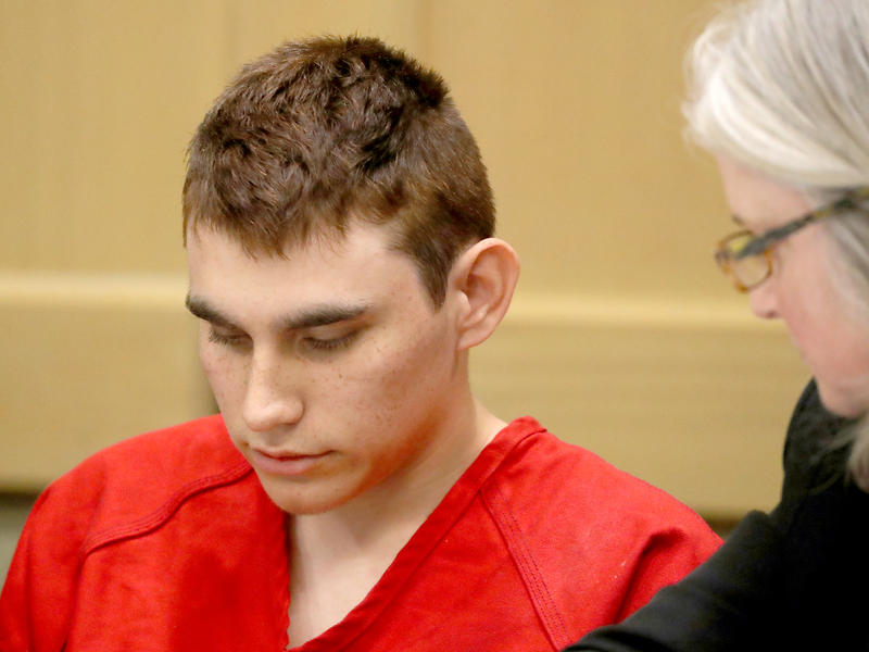 The Broward County state attorney will seek the death penalty in its case against Nikolas Cruz, who is charged with 17 counts of murder in the Parkland, Fla., shooting. Cruz is seen here at a hearing Feb. 19 in Fort Lauderdale.