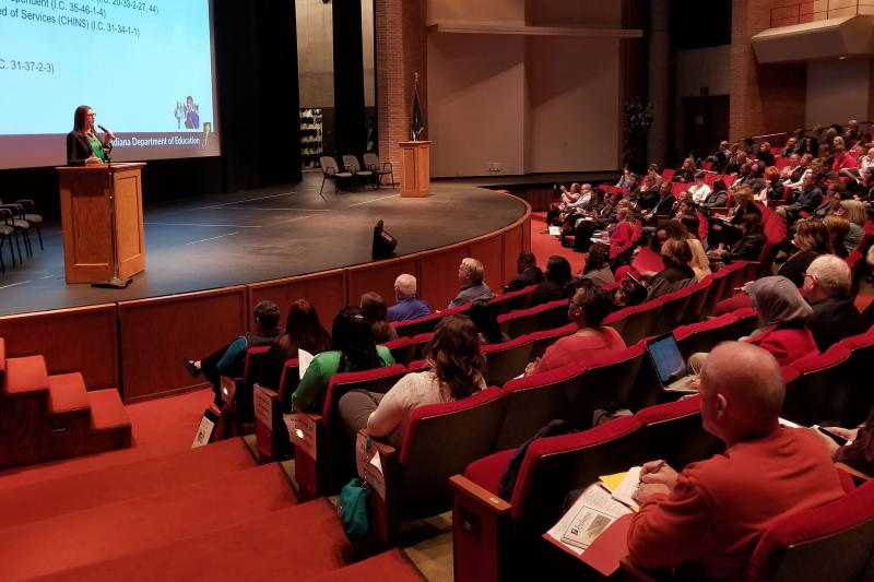 Education professionals from across the state gathered in Indianapolis this week to learn more about homeless children and youth. (Jeanie Lindsay/IPB News)