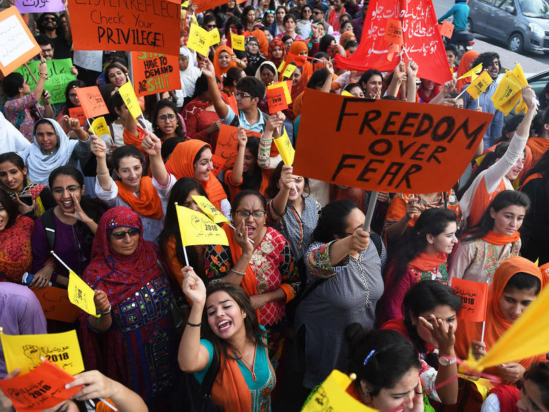 Pakistani women held a public march in Karachi to mark International Women's Day — and call for justice.
