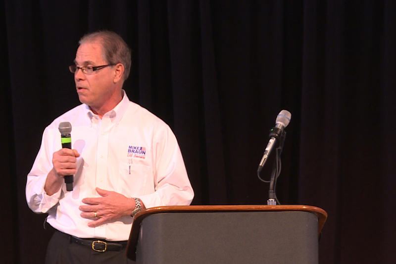 Former state representative Mike Braun is one of three candidates running for a chance to face incumbent Sen. Joe Donnelly (D-Ind.) (Tyler Lake/WTIU)
