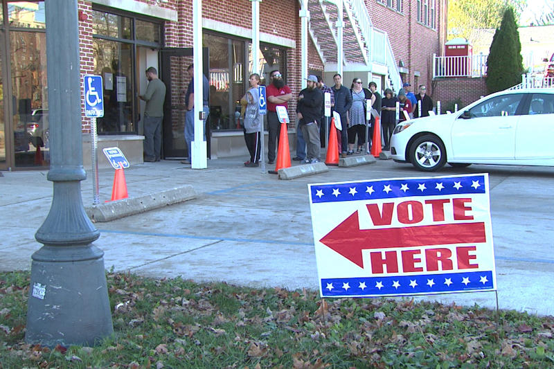 Voters don't need a reason to vote early in-person, unlike when casting absentee ballots by mail. (Steve Burns/WTIU)