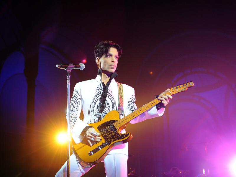 Prince performs in 2009 at the Grand Palais in Paris.