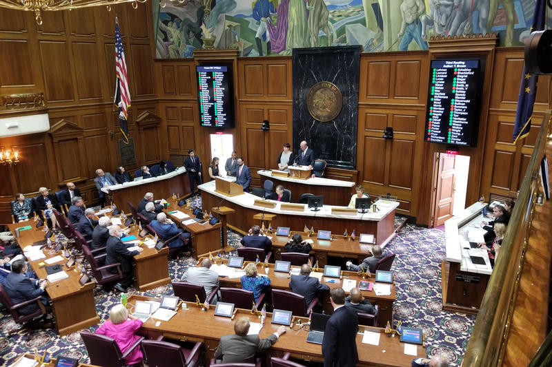 Legislators in the House approved the bill mostly along party lines, with a few Republicans voting against the bill. (Jeanie Lindsay/IPB News)