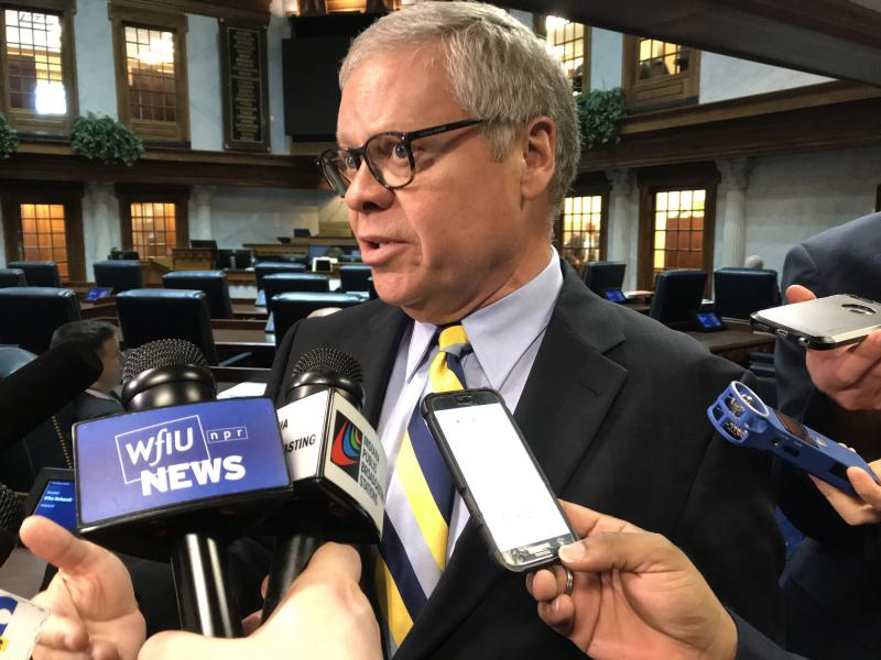 Senate Public Policy Committee Chair Ron Alting (R-Lafayette) says he'll give a hearing to a bill next year to legalize sports betting. (Brandon Smith/IPB News)
