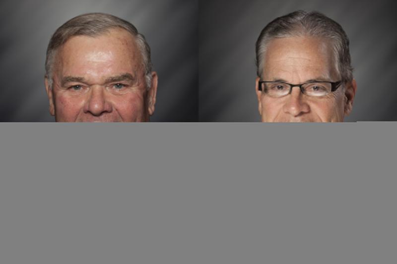 4th Congressional district Republican nominee Rep. Jim Baird, left, and Republican Senate candidate Mike Braun - a former state lawmaker - were attacked for their votes to raise the state's gas tax 10 cents. (Courtesy Indiana General Assembly)