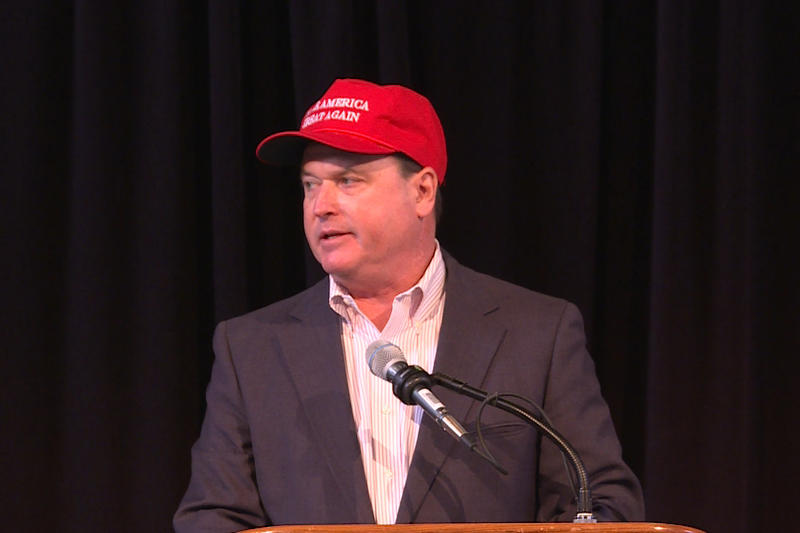 Rep. Todd Rokita (R-Brownsburg) is one of three candidates vying for a chance to challenge incumbent Sen. Joe Donnelly (D-Ind.) (Tyler Lake/WTIU)