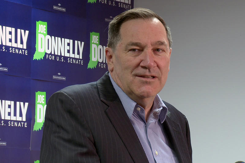 Sen. Joe Donnelly (D-Ind.) says he's ready for a fight against Republican Senate candidate Mike Braun. (Lauren Chapman/IPB News)