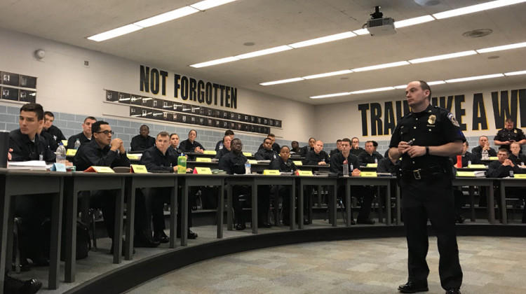 Active IMPD officers are in charge of teaching the implicit bias curriculum to recruits.
