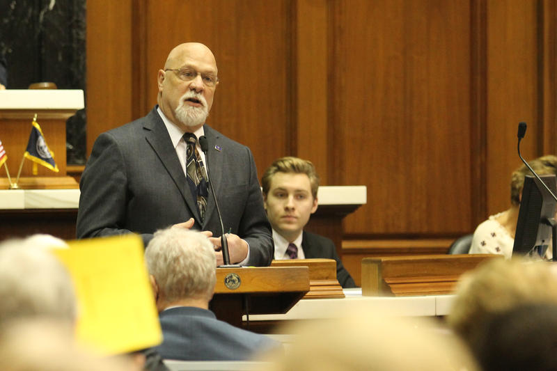Rep. Tim Brown (R-Crawfordsville) says the latest legislation builds on previous school safety investments. (Lauren Chapman/IPB News)