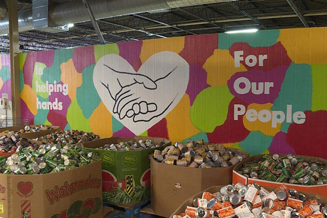 The St. Vincent DePaul food pantry in Indianapolis. (Jill Sheridan/IPB News)