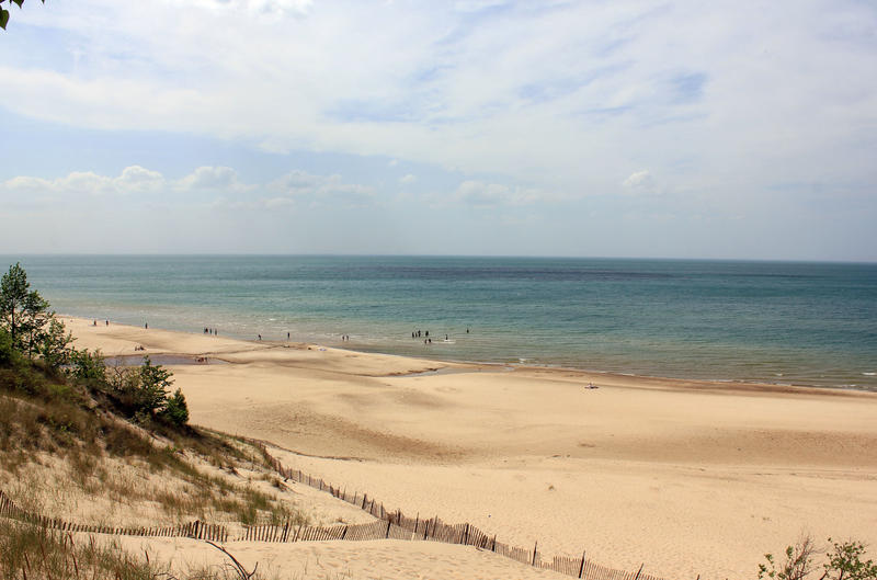 Indiana Dunes National Lakeshore is on the southern shore of Lake Michigan. (Wikimedia Commons)