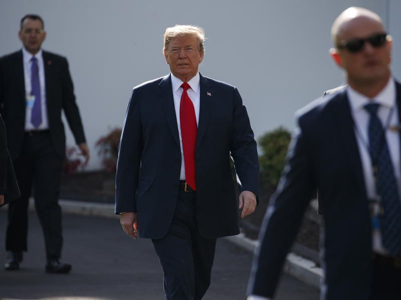 """President Trump spoke to reporters outside the White House on Friday about the FBI inspector general's report, Paul Manafort and what """"a great job"""" he did during his summit with North Korean leader Kim Jung Un."""
