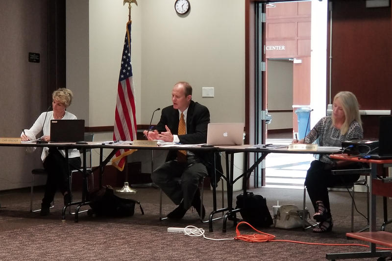 State Board of Education member Gordon Hendry chairs the virtual schools committee, and the group includes fellow board members Cari Whicker and Maryanne McMahon. (Jeanie Lindsay/IPB News)