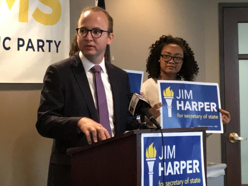 Democratic Secretary of State candidate Jim Harper says Hoosiers should be concerned about election security this year. (Brandon Smith/IPB News)