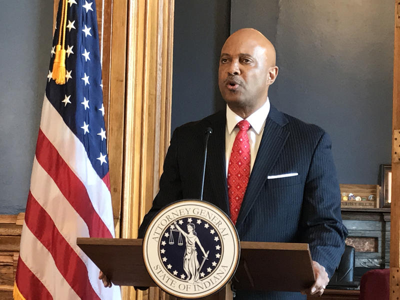 Attorney General Curtis Hill maintains his innocence after four women accused him of groping them and two others corroborated those accusations. (Brandon Smith/IPB News)