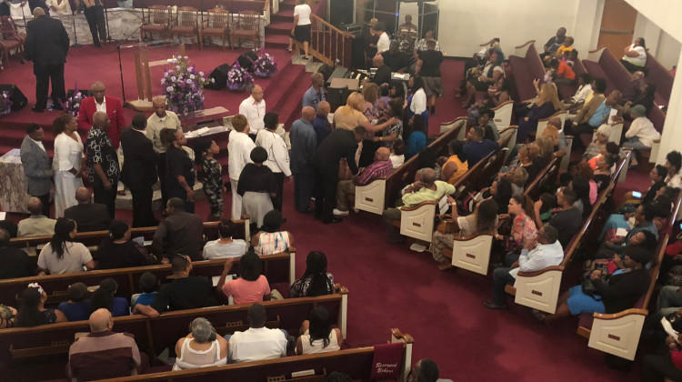 Nearly 300 people gathered for a vigil at Mount Olive Baptist Church Monday night to remember nine members of an Indianapolis family killed in the Missouri duck boat accident.