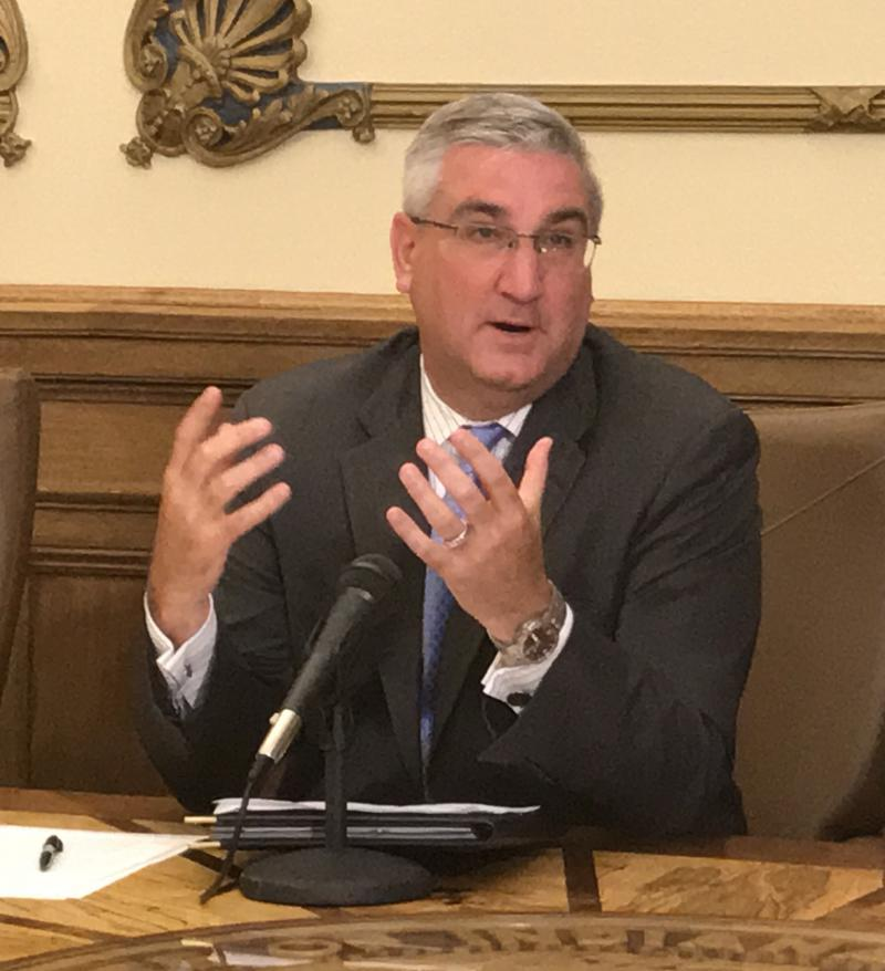 Gov. Eric Holcomb says he had no choice but to call for Attorney General Curtis Hill's resignation. (Brandon Smith/IPB News)