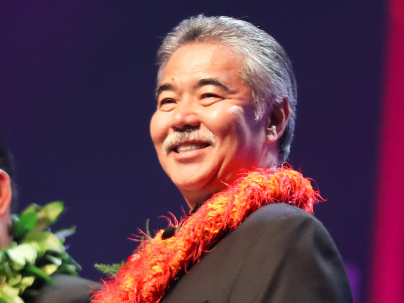 Hawaii Gov. David Ige, pictured in 2016, faced a strong challenge to his re-election but had a strong lead in early Democratic primary results.