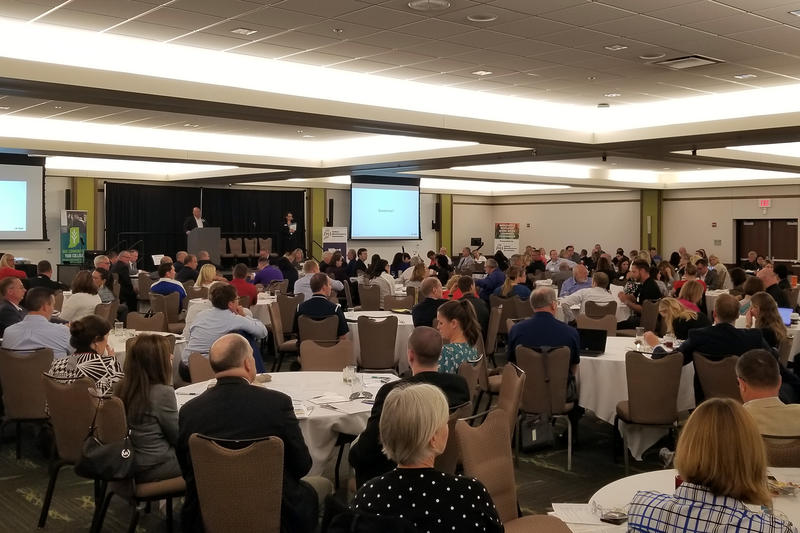 More than 300 employees, educators and policymakers gathered in Indianapolis for the Indiana Manufacturers Association's conference. (Jeanie Lindsay/IPB News)