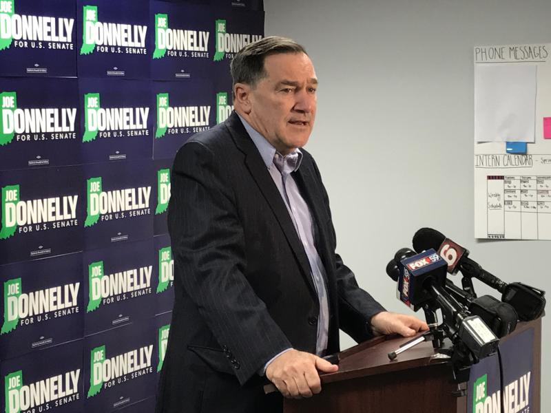 The Indiana Republican Party filed an ethics complaint against Sen.  Joe Donnelly (D-Ind). (Brandon Smith/IPB News)
