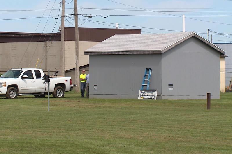 The Amphenol site in Franklin, Indiana. (Steve Burns/WTIU)