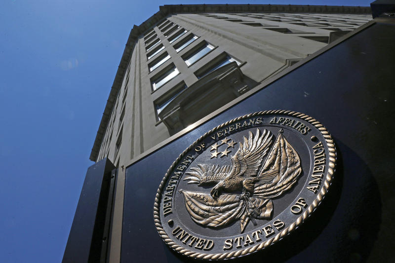 The seal affixed to the front of the Department of Veterans Affairs building in Washington D.C., June 21, 2013.