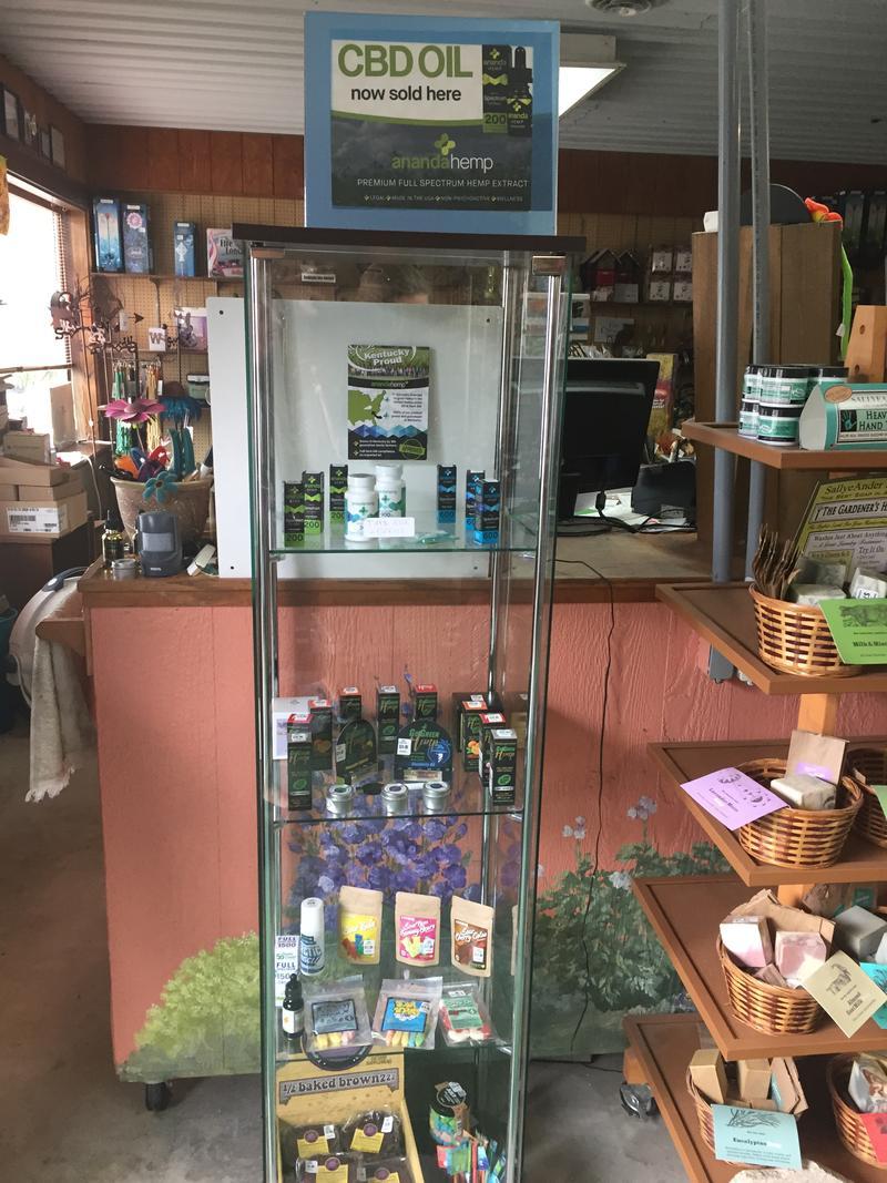 CBD products are sold at Davidson Greenhouse in Crawfordsville. (Jill Sheridan/IPB News)