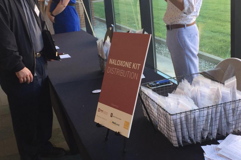 Free naloxone was distributed at the event at IUPUI. (Jill Sheridan/IPB News)