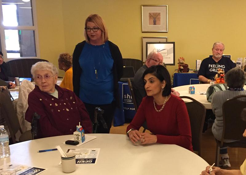 CMS Administrator Seema Verma visited a senior living facility in Indianapolis. (Jill Sheridan/IPB News)