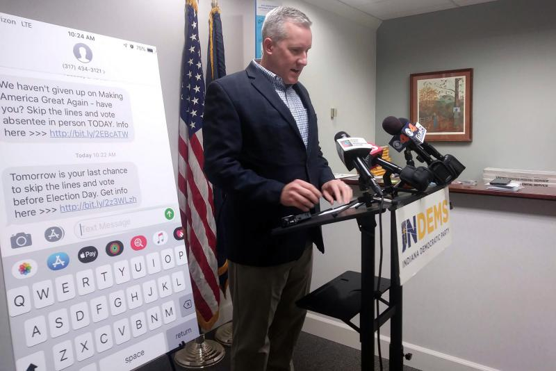 """Indiana Democrats Chairman John Zody says the text messages were either a misinformation campaign or a """"major mistake."""" (Lauren Chapman/IPB News)"""