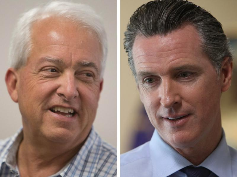Gubernatorial candidates Republican John Cox and Democrat Gavin Newsom.