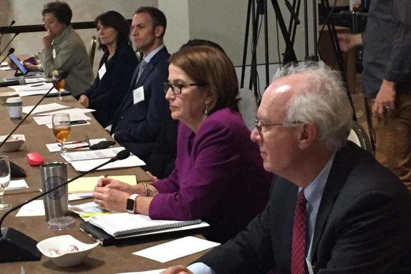 The Legal Services Corporation Opioid Task Force met in Indianapolis Wednesday. (Jill Sheridan/IPB News)