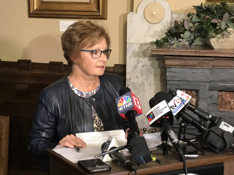 Indiana Secretary of State Connie Lawson says the state Democratic Party mistakenly sent out potentially thousands of faulty absentee ballot applications. (Brandon Smith/IPB News)