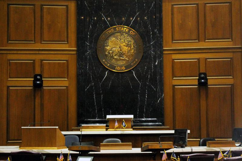 The 2019 State of the State address marked Gov. Eric Holcomb's third address to a joint session of the Indiana General Assembly. (Lauren Chapman/IPB News)