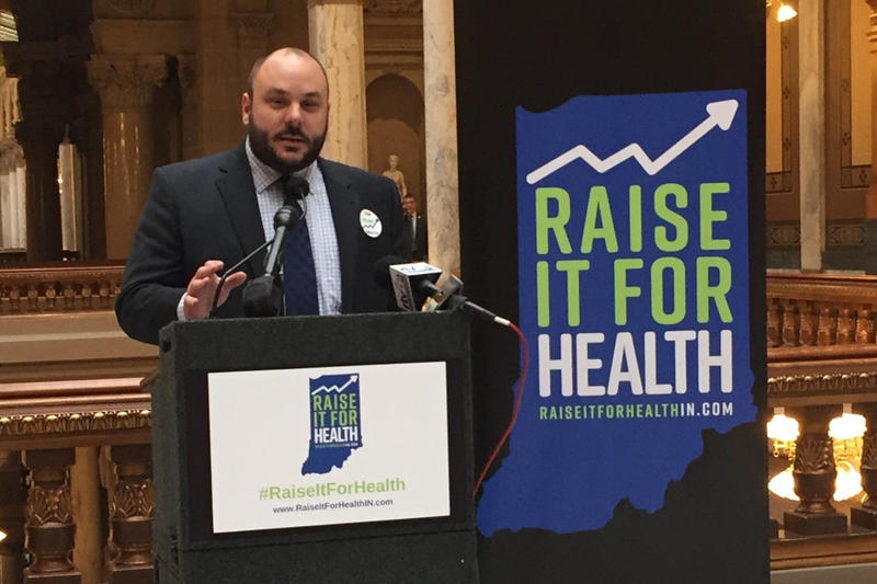 Bryan Hannon chairs Tobacco Free Indiana and Raise it for Health. (Jill Sheridan/IPB News)