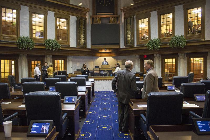 The Indiana Senate Chamber (FILE PHOTO: Peter Balonon-Rosen/IPB News)