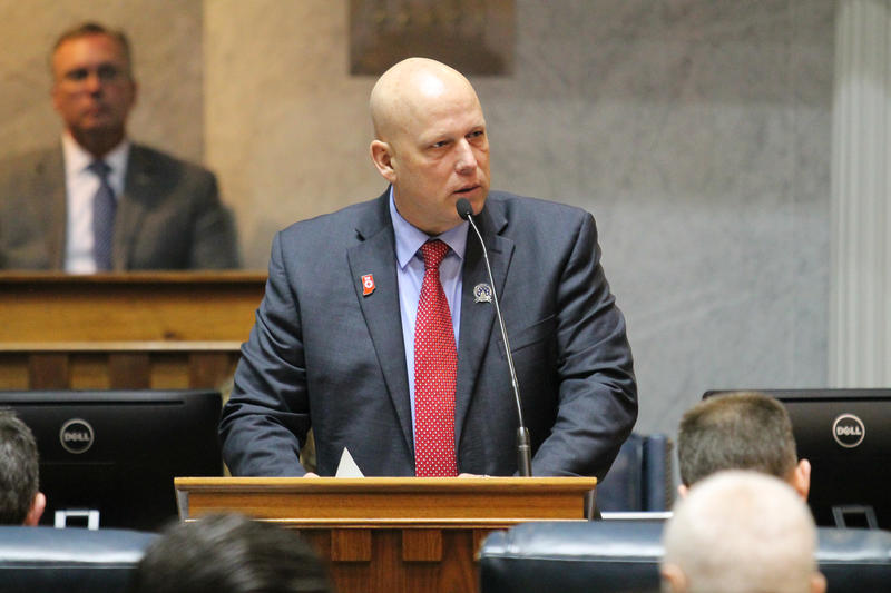 Bill author, Sen. Michael Crider (R-Greenfield), says the creation of an integrated mental health system is a key step in preventing school violence.  (Lauren Chapman/IPB News)