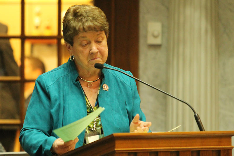 Sen. Jean Leising (R-Oldenburg) authored the legislation that aims to improve consumer awareness. (Lauren Chapman/IPB News)