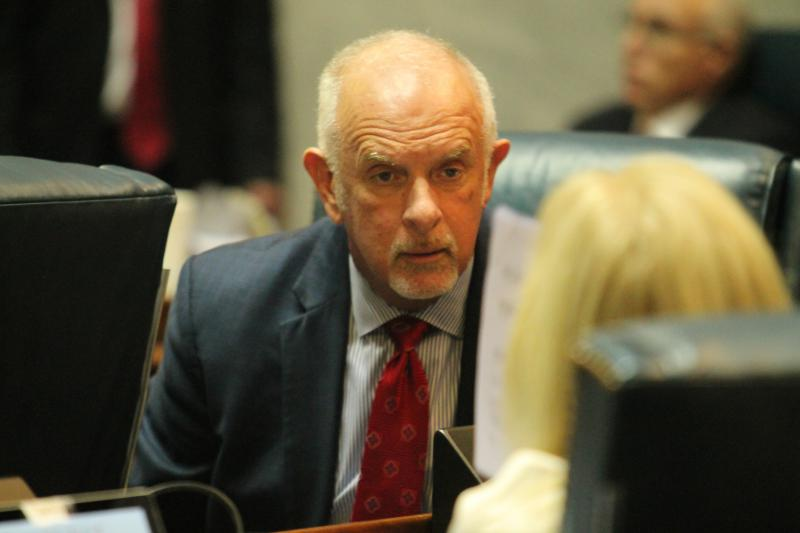 """Sen. Travis Holdman (R-Markle) is """"uneasy"""" with a bill that gives people $50,000 for each year they were wrongfully imprisoned. (FILE PHOTO: Lauren Chapman/IPB News)"""