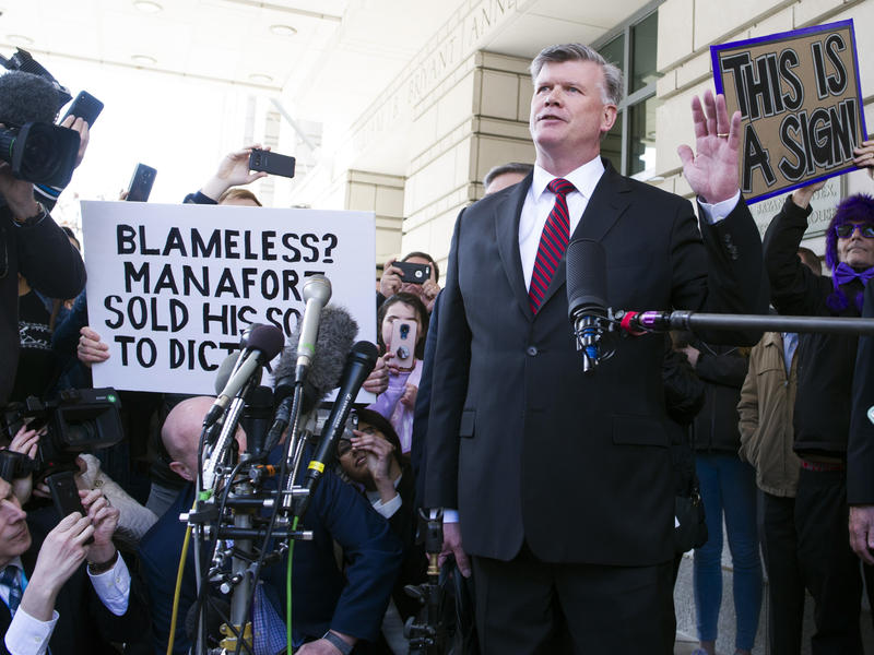 Kevin Downing, Paul Manafort's attorney, left federal court after Manafort's sentencing hearing in Washington, Wednesday, March 13, 2019.