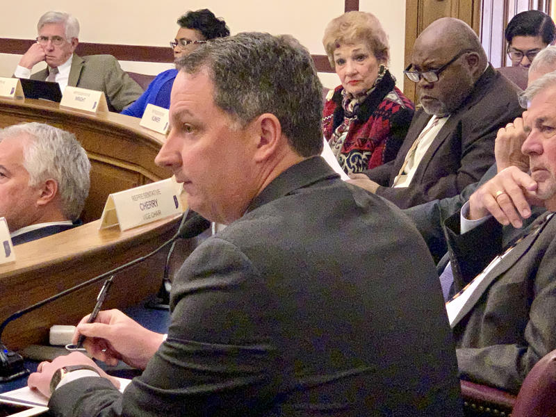House Ways and Means Co-Chair Rep. Todd Huston (R-Fishers) listens to discussion of the gaming bill. (Brandon Smith/IPB News)