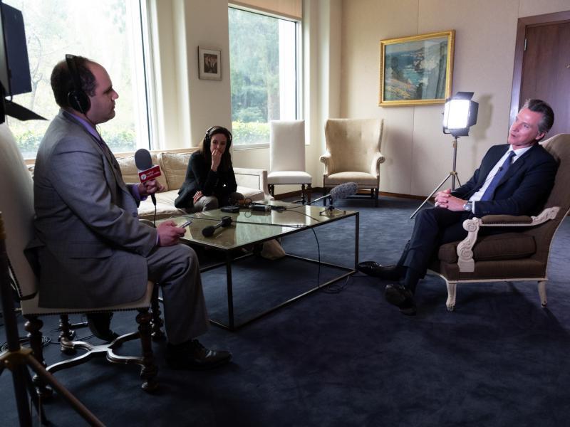 CapRadio Capitol Bureau Chief Ben Adler interviews California Gov. Gavin Newsom about his first 100 days in office.