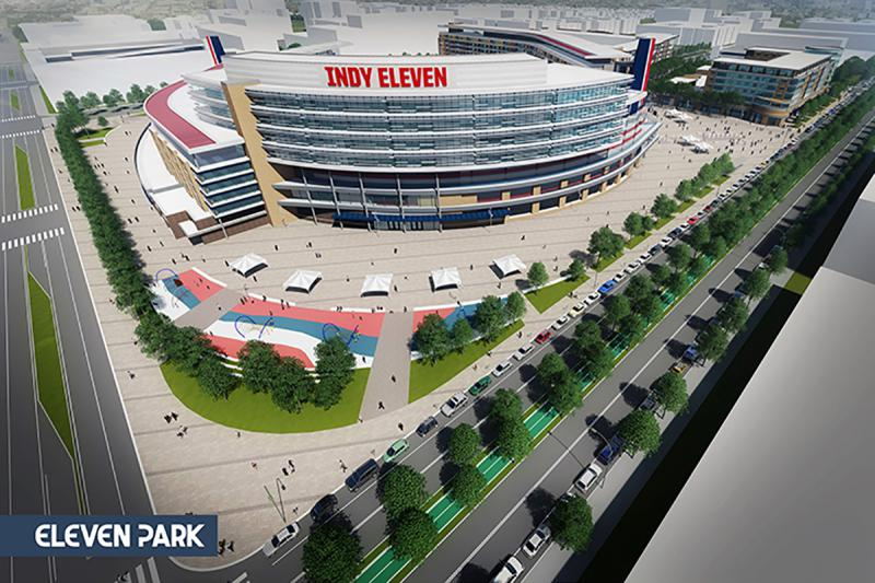 Rendering of the proposed Indy Eleven stadium. (Provided by Keystone Group)