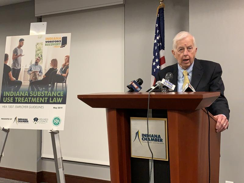 Indiana Executive Director for Drug Prevention, Treatment and Enforcement Jim McClelland (Brandon Smith/IPB News)
