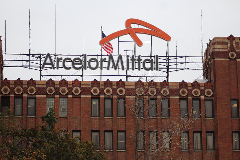 ArcelorMittal's facility in East Chicago. (Samantha Horton/IPB News)